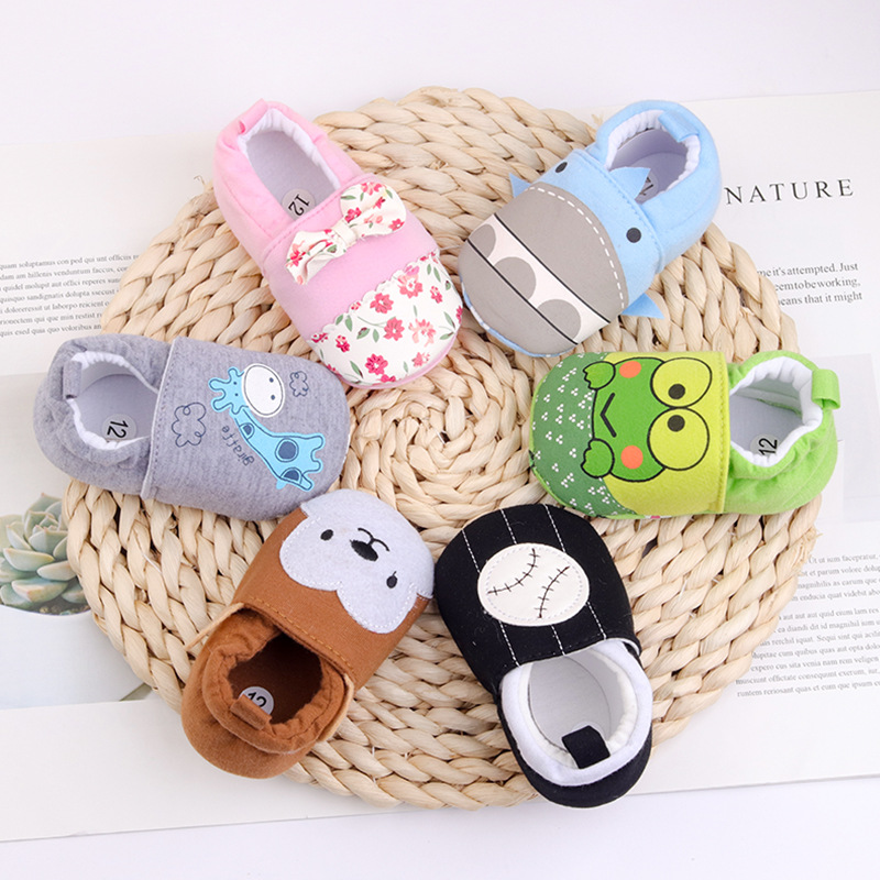 0-2Y Baby Cartoon First Walkers Boys Fashion Shoes Girls Shoes 3D Animal Footwear Non-Slip Sole Newborn Infants Toddlers Shoes