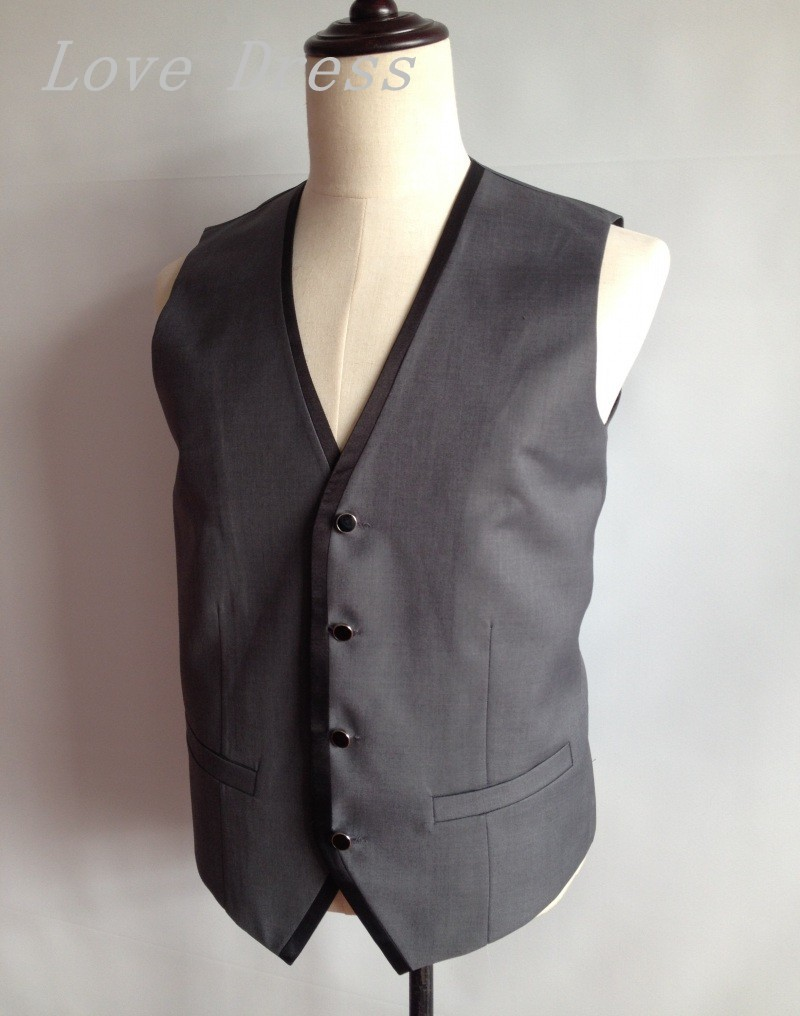 db39a13fe880 Free shipping Newest Tailor Made Vest Man Suits Four Button ...