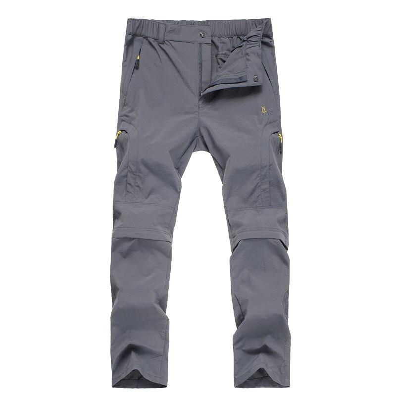 ФОТО Summer Outdoor Pants Men Camping & Hiking Pants Nylon Quick-Drying Waterproof Thin Solid Fishing Trekking Climbing Pants Male