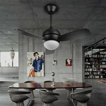 36 /42 Inch Loft Industrial Style Restaurant LED Ceiling Fan Lamp Concise Living Room Fan Light Art Parlor Bar Light - DISCOUNT ITEM  15% OFF All Category