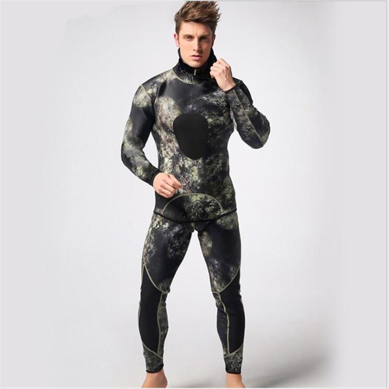 Mężczyźni 3mm neoprenu kombinezon dwuczęściowy kombinezony - Ubrania sportowe i akcesoria - Zdjęcie 6