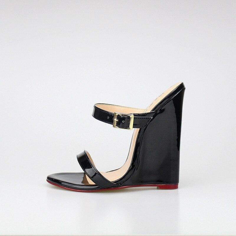 D'été En red 40 Extrême Sandls 46 Verni Plate Haute Sexy Talon 2018 Cuir forme Cm Black 14 Sandales Femmes Chaussures u35FTlKc1J