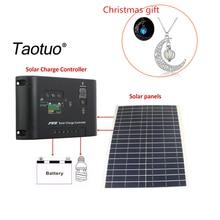12V 20W Polycrystalline Saving Semi-flexible Solar Panels + 12V/24V 10A 5V DC top Solar Panel Charge Controller