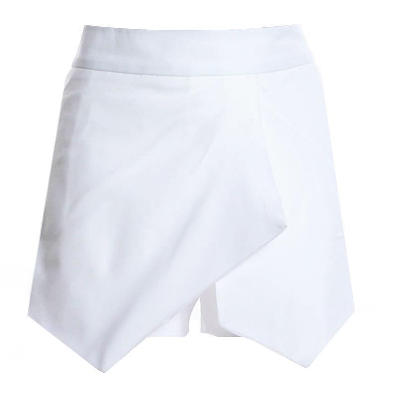 Новые повседневные шорты для женщин Летние шифоновые европейские шорты высокий эластичный пояс свободные шорты - Цвет: Бежевый