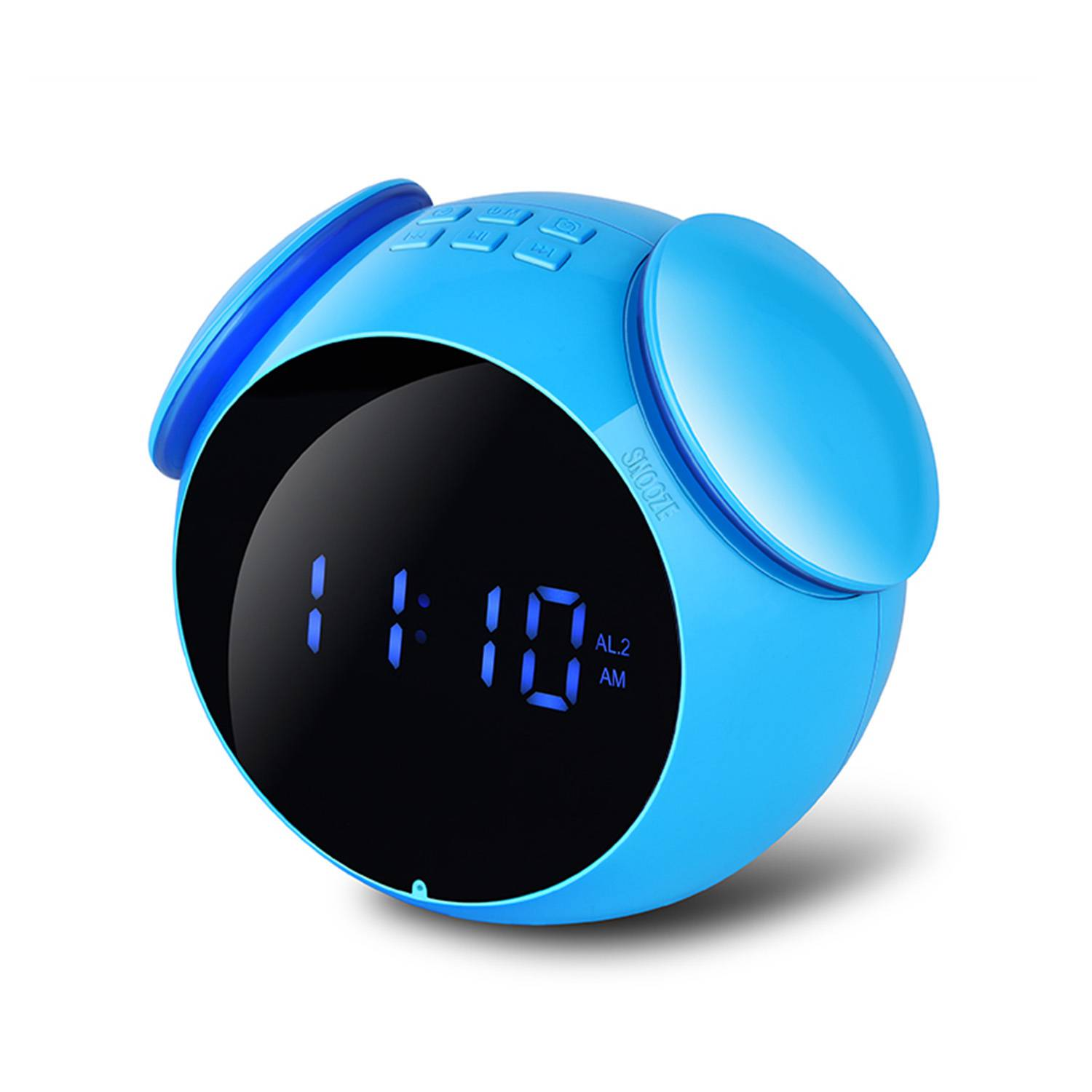 HOT Mini Bluetooth Audio Function Speakers 4.2 Protocol MP3 Cards Mirror Display Alarm Clock FM Radio Wireless Free Alarm Sett