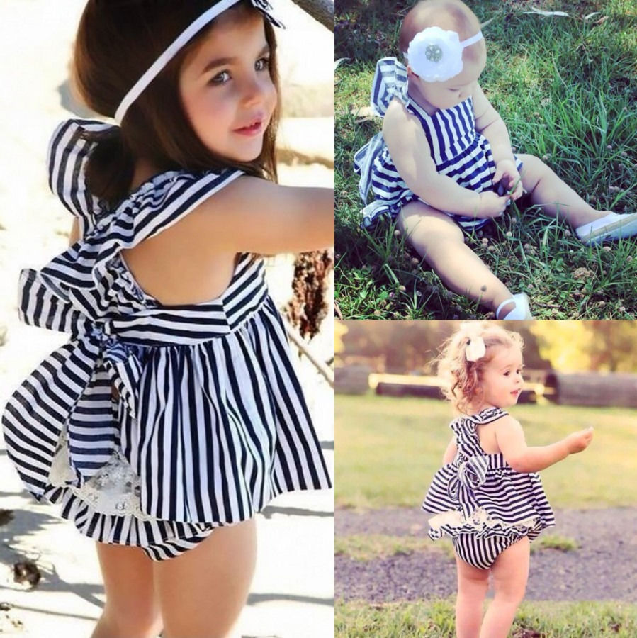 HOT-Baby-Girls-Clothes-Summer-Sunsuit-Infant-Outfit-Stripe-Backless-Dress-1
