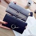 2017 new hand-held women's crocodile pattern wallet womens wallet purse