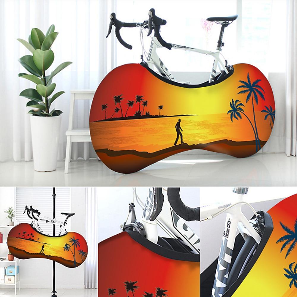 Bicycle Indoor Universal Bike Wheel Cover Bags Elastic Anti-dust Uv Weather Keeps Floors Dirt-free Gear Storage Protective Bag