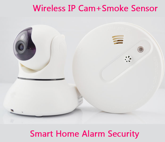 buy fire alarm systems security home wireless smoke detector 433mhz wifi ip. Black Bedroom Furniture Sets. Home Design Ideas