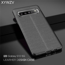 все цены на For Samsung Galaxy S10 5G Case Luxury PU leather Rubber Soft Silicone Phone Case Back Cover For Samsung Galaxy S10 5G Fundas