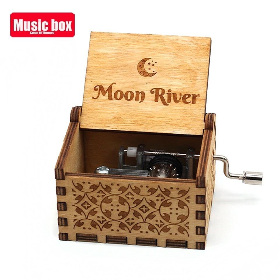 Новая музыкальная шкатулка La Vie En из розового дерева, крутые подарки на день рождения, детская вечеринка, Звездные войны, игра на трон, детские подарки - Цвет: Moon River