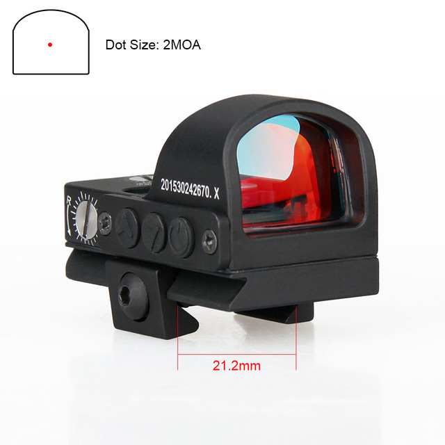 Canis Latrans Tactical caça acessórios 2MOA 1X Mini Red dot Sight Scope Caça Scopes Para A Caça À Prova D' Água Usando GZ2-0078