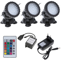 3pcs Underwater 36LEDs 4 5W Aquarium LED Light Lamp Waterproof IP68 Submersible Light Spot Light For