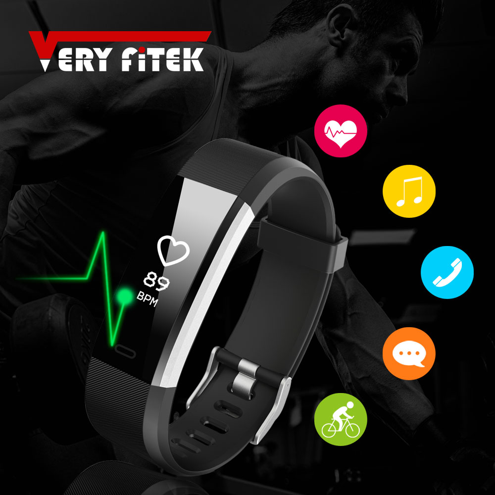 ID115HR PLUS Smart Bracelet Sports Wristband With Heart Rate Monitor Fitness Tracker Band Watch for Xiaomi Phone pk id115plus