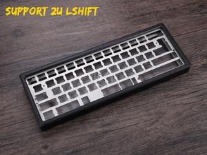 Image 4 - Cassa In Alluminio anodizzato per xd60 xd64 60% tastiera personalizzata acrilico pannelli diffusore in acrilico gh60 xd64 xd60 60% girevole supporter