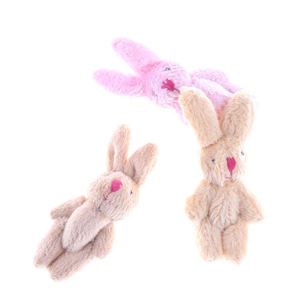 Mini coelho macio bonito pingente de pelúcia coelho para chaveiro buquê brinquedo boneca diy ornamentos presentes 6.5 cm