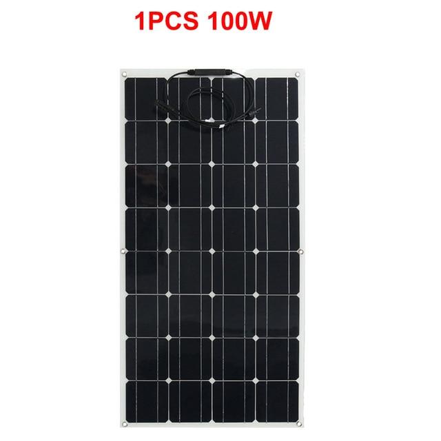 Zonnepaneel 100 w 12 v solar charger Flexibele Type Monokristallijn Silicium 125mm * 125mm 32 stks Solar mobiele 1000 w zonnepaneel