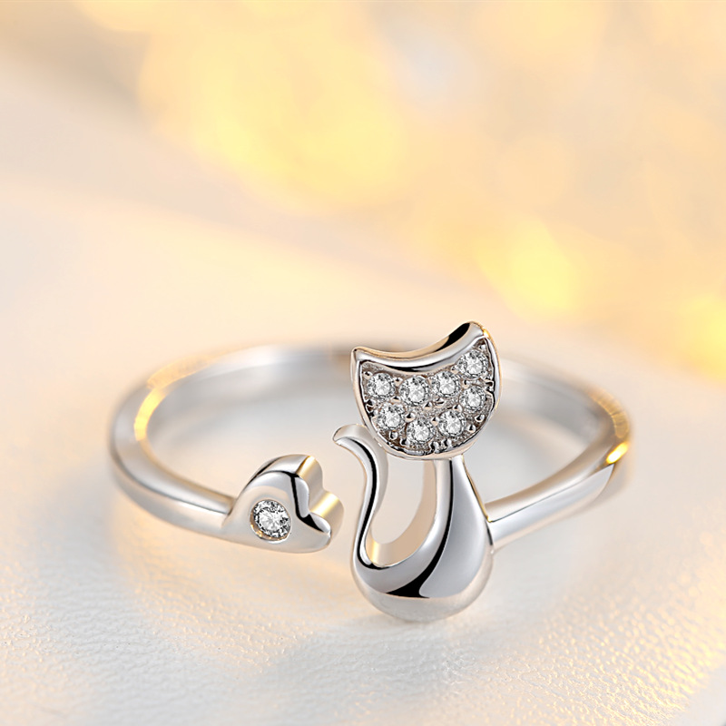 Cute Cat Ring for Women