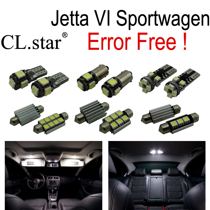 13pc X  CANBUS for Volkswagen VW jetta 6 MK6 sportwagen LED interior light  kit package  (2010+) car styling 13pcs excellent canbus led bulb interior dome map light kit package for volkswagen vw passat b6 2006 2010