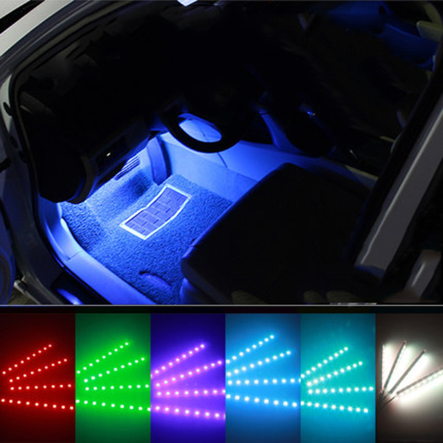 16 colors rgb led strip light decorative atmosphere lamps car 16 colors rgb led strip light decorative atmosphere lamps car interior light for mercedes w211 w203 mozeypictures Gallery