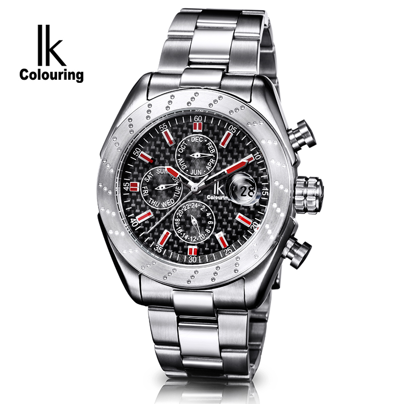 IK Luxury Men's Erkek Kol Saati Day/Week/24 Hours Auto Mechanical Watch Wristwatch Orignal Box Free Ship бра maytoni elegant 43 arm386 01 w