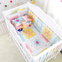 9 Pcs Hot Multi Colors Cotton Baby Bedding Linens Toddler Crib Bedding Set Including Baby Cot Bumpers Sheet Pillow Quilt