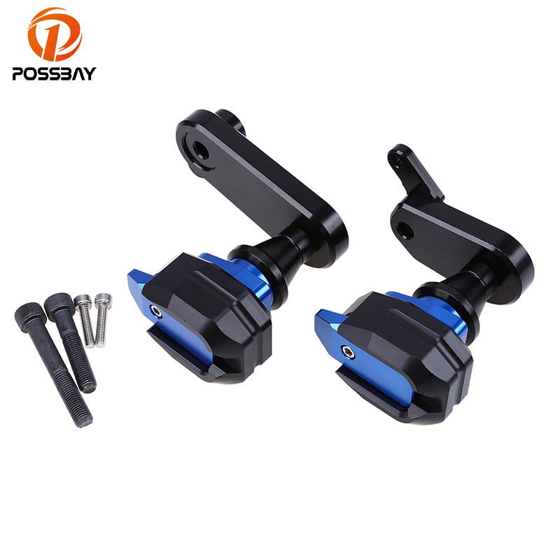 POSSBAY Black/Gold/Blue/Titanium Motorcycle Frame Sliders Anti Crash Protect Pads Fit For Kawasaki ZX6R 2009 2010 2011 2012