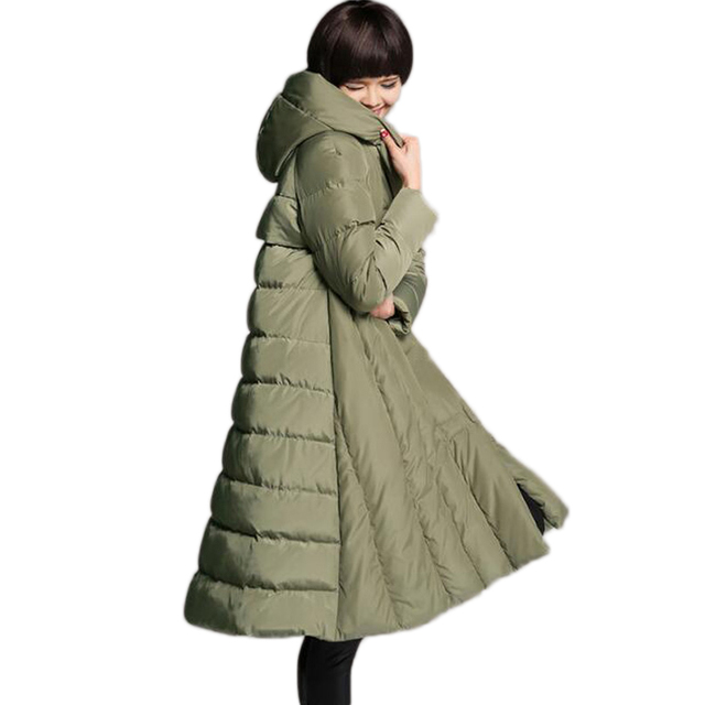 2019 Winter women 's fashion 90% white duck down jacket solid color casual women' s down jacket long large size Girl warm parkas 1