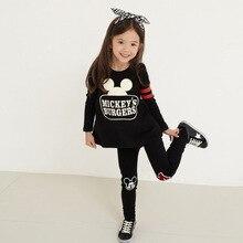 Roupa dos miúdos terno dos esportes para uma das meninas roupa Dos Miúdos das Crianças Set Crianças Com Capuz Impresso Conjuntos de roupas de moda infantil