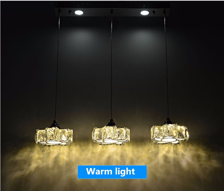 Простой светодиодный хрустальный канделябр для ресторана светодиодный светильник из нержавеющей стали светодиодный канделябр мощный светодиодный светильник