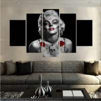 Canvas Printings Day Of The Dead Marilyn Monroe Painting Wall Art Home Decoration Poster Canvas Unframed