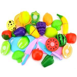 Image 5 - Jouets de cuisine pour enfants, en plastique, pour couper des fruits et légumes, cuisinier Cosplay, jouets éducatifs de sécurité, P20 6 pièces/ensemble