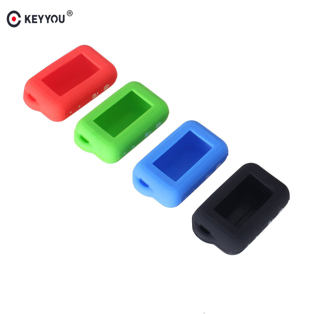 KEYYOU Silicone Key Case For 2 Way Car Alarm System For Starline E60 E61 E62 E90 E91 Remote Control Key Fob atobabi e60 e90 leather key fob cover cases for starline e60 e90 e63 e93 e95 e66 e96 lcd remote controller keychain transmitter
