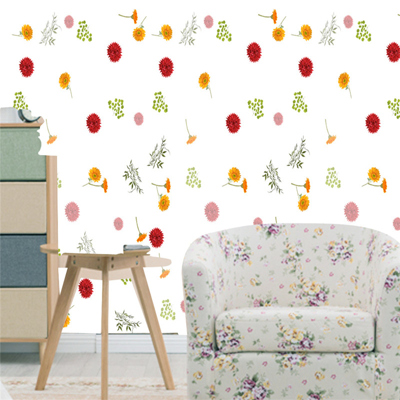 3D Custom Photo Size Wallpapers Flowers Modern Flowers Nature Walls Papers for Children Room Leaves Background Murals Home Decor custom photo size wallpapers 3d murals for living room tv home decor walls papers nature landscape painting non woven wallpapers