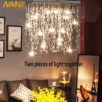 NANS Хрустальные потолочные светильники внутреннего освещения светодиодный светодиодные Современные G4 светодиодный светодиодные метеорит