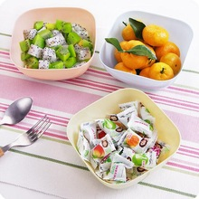 Plastic Square Salad Bowl Snacks Candy Dry Fruit Bowls 2Pcs/Lot Dessert Bowl