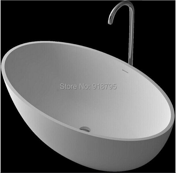 1760x1030x550mm Festen Oberfläche Stein CUPC Zustimmung Badewanne Oval Freistehende Corian Matt Oder Glänzend Finishing Badewanne RS6556