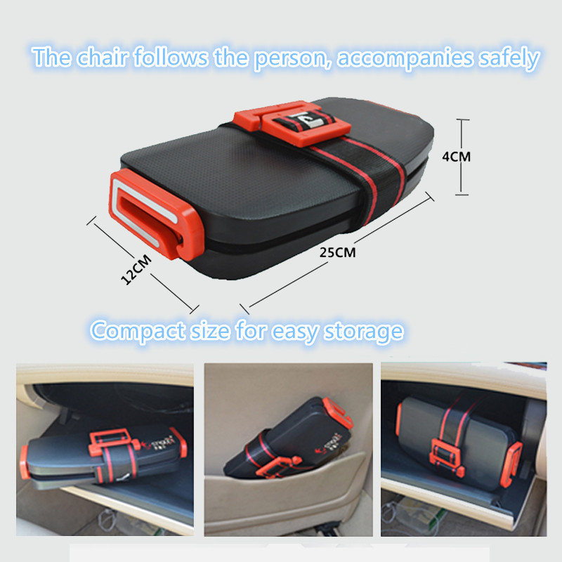 Mifold Portable Baby Car Seat Safety Cushion Travel Pocket Foldable Grab And Go Booster Toddler Car Seat Mat Harness For 2~12Y