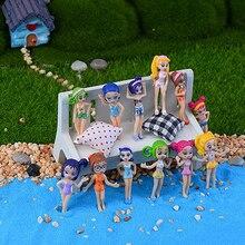 6Pcs Mini Cute Bikini Girl Micro Landscape Garden Ornaments Doll Decor Craft DIY Store 243