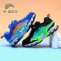 Кроссовки DINOSKULLS для мальчиков  дышащие кроссовки с динозавром для спорта  бега  От 3 до 9 лет