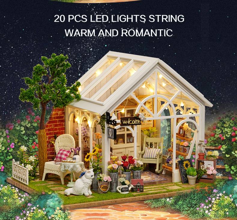 Sunshine Garden DIY 3D Dollhouse