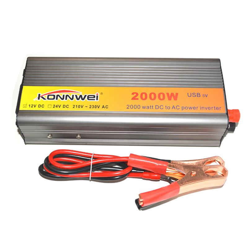 <font><b>2000W</b></font> Professional Car Inverter DC <font><b>12</b></font> V to AC <font><b>220</b></font> V Power Inverter Charger Transformer Vehicle Power Inverter Power Switch image