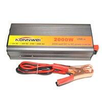 Hot! 2000W Car Inverter DC 12 V to AC 220 V Power Inverter Charger Transformer Vehicle Power Inverter Power Switch