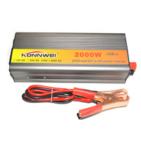 Hot! 2000W Car Inverter DC 12 V to AC 220 V Power Inverter Charger Transformer Vehicle Power Inverter Power Switch