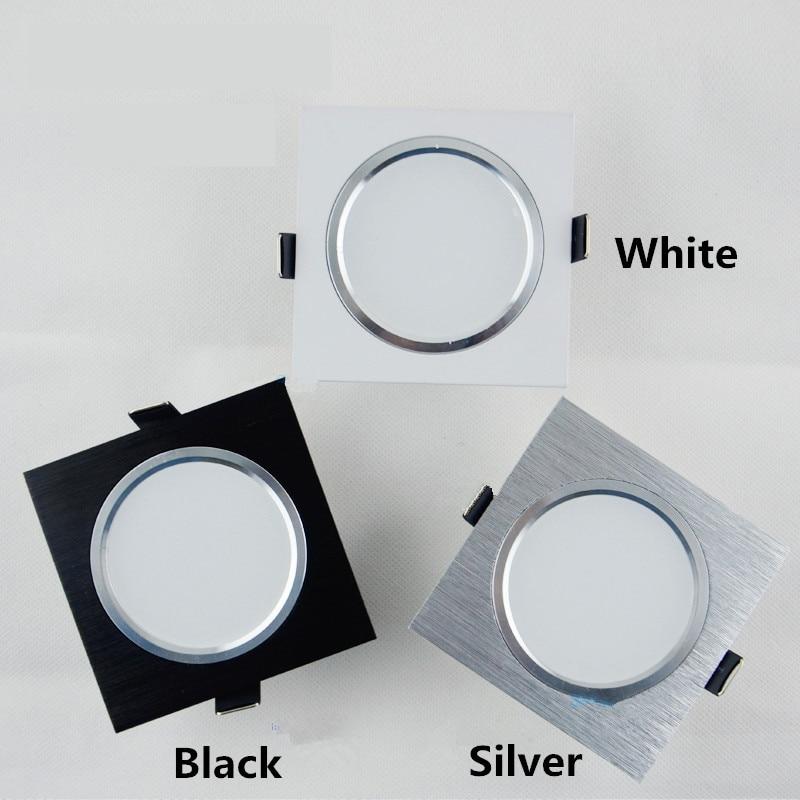 Lights & Lighting 12.12 Hot Sale 10pcs Ac85-265v White Black Silver Gold Cabinet Lamp Round Mini Led Spot Light 3w Fast Color