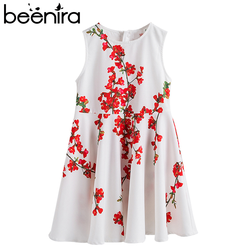 Beenira Girls Summer Dress 2018 European And American Style Children Floral Pattern Children Dresses Kids 4-14Y Cute Girls Dress beenira girls dress 2017 new european and american style kids printed pattern long sleeve dress for 4 14y children autumn dress