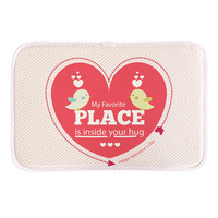 Red Heart Printed Doormat Home Decor Indoor Mats Livingroom Bathroom Short Plush Floor Cute Carpets