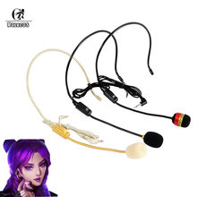 ROLECOS LOL KDA Cosplay Akali Ahri Kaisa Microphone Evelynn Akali Cosplay Kaisa Game Ahri Microphone DIY Costume Headwear(China)