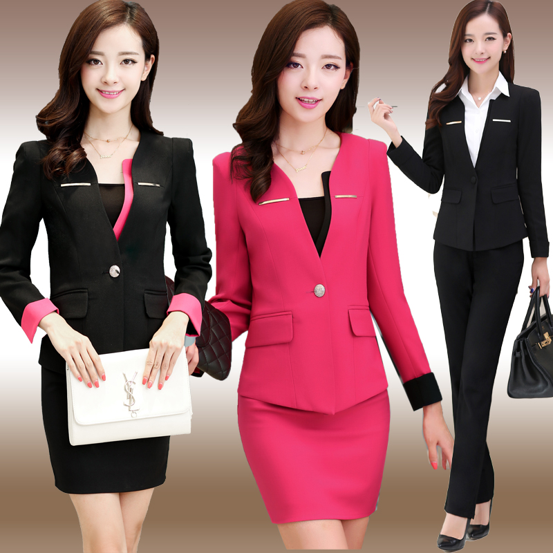 S-6xl Free Shipping Plus Size Womens Dress Suit Ol Hotel Reception Beautician Workwears Women Clothes Set Top+pant Dress Cswc005 Suits & Sets Women's Clothing