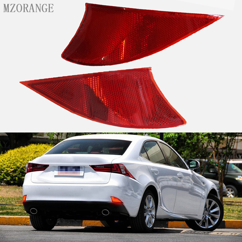 MZORANGE 2x Rear LED Bumper Reflector Red lens Stop Tail Rear Fog Brake Light lamp Red for Lexus IS 250 350 XE30 2014 2015 13 16